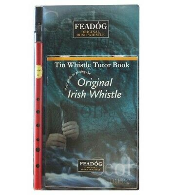Coloured Irish Whistle and Tutor Book & CD Perfect for Children and Adults