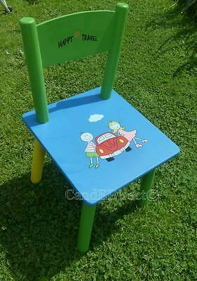 Childrens Kids Wooden Chair Nursery Playroom Furniture NEW