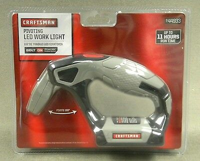 Craftsman Bolt On Pivoting LED Work Light  (9-44933) *20 Volt MAX*  (R1)