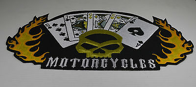 Patch ecusson  skull carte  rock ,tatto, custom,  , moto; biker,rock, gothique