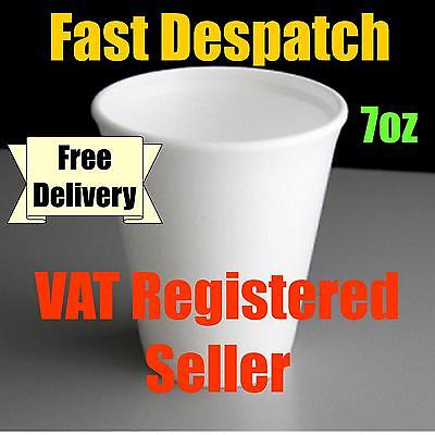 Dart 7oz Polystyrene Disposable Foam Cups Hot/Cold Drinks (200 to 4000 cups)