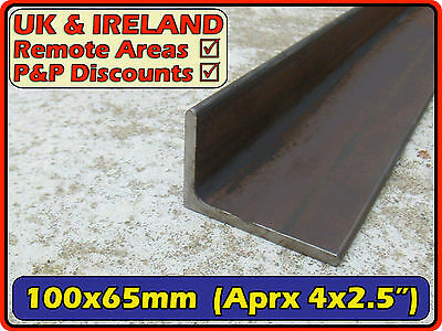 "Mild Steel Angle Iron (L section bracket) | 100x65mm (4"" ) 100mm 