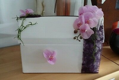 Kartenbox Geldbox Kuvert Hochzeit Briefbox Neutral Weiß Bastel Orchidee Sizoweb