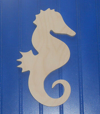 """7"""" Unpainted Wooden various BEACH OCEAN SEA Shapes Cut Outs Wall  Decor Crafts"""