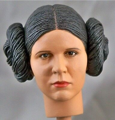 1:6 Custom Head of Carrie Fisher as Princess Leia from Star Wars IV: A New Hope