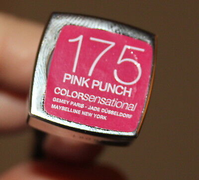 Maybelline Color Sensational Lipstick No 175 Pink Punch New Great Colour