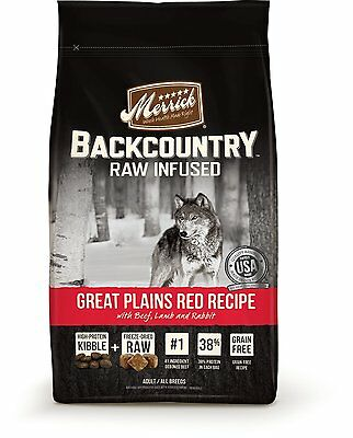 Merrick Backcountry Great Plains Red Meat Recipe Raw-Infused : 22-lb  (3701) DTF
