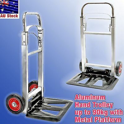 Baggage Luggage Metal Platform Folding Aluminum Hand trolley 90 kg Compact