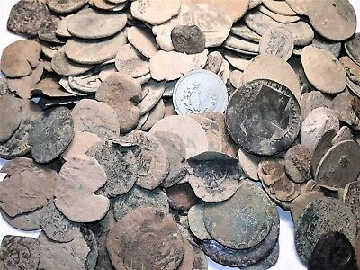 (10) Raw Spanish Colonial Pirate Treasure Time For You Clean And Identify