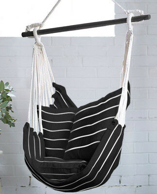 Deluxe Hanging Hammock Chair Swing INCLUDES luxuriously Soft 2 Cushions Hammocks