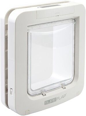 Durable Revolutionary Battery Powered Microchip Controlled White Pet Door