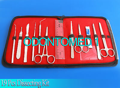 LAB TEACHER CHOICE 19 pcs Dissecting /Dissection Kit for Medical Student DS-1261