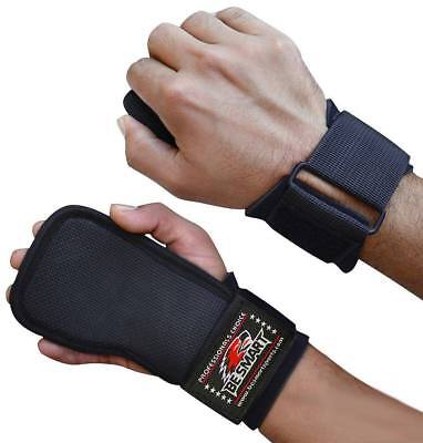 Be Smart GRIP Weight Lifting Rubber Pads Gym Straps Versa Neoprene Wrist Support