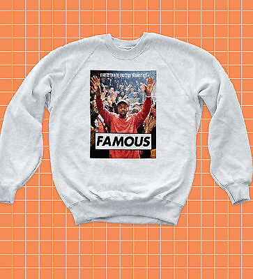 FAMOUS Kanye Sweatshirt Video Awards Jumper Taylor Life of Pablo Jay Z Yeezy Top