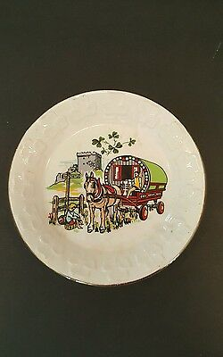 Vintage Carrigaline Pottery Souvenir Plate From Ireland