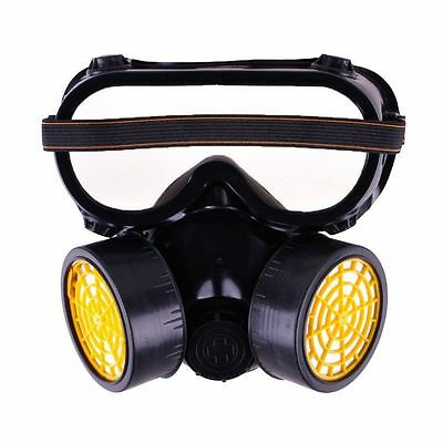 Sale Industrial Chemical Gas Anti-Dust Spray Paint Dual Respirator Mask Goggles
