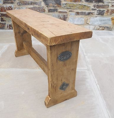 Hand Made Old Pine Reclaimed Wooden Bench Seat Kitchen Dining GWR Design • £120.00