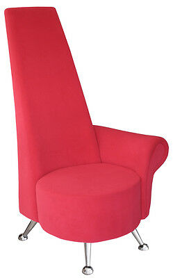 Hand Made Funky Potenza Mini Chair Upholstered in Red or Black Velour Fabric