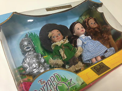 Wizard of Oz Kelly Doll Figures DorothyLionScarecrowTin Barbie Collectibles NRFB