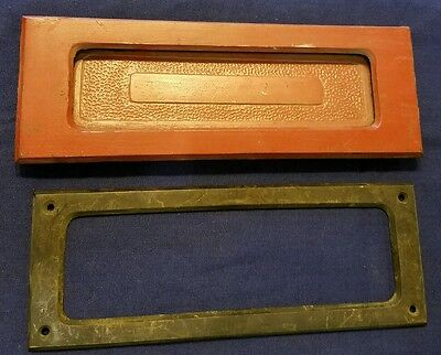 Vintage Antique Heavy Brass Letter Mail Newspaper Door slot