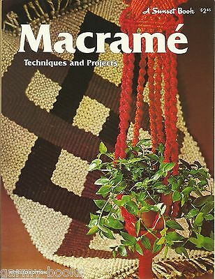 Macrame Techniques & Projects Vintage Pattern Instruction Book Revised NEW