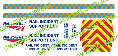 00 1:76 Waterslide Transfers Ford Transit Code 3 Network Rail