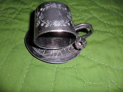 ANTIQUE MERIDEN SILVERPLATE NAPKIN HOLDER -on holder