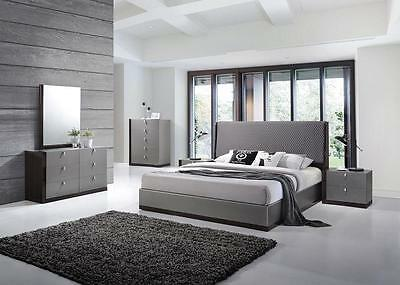 J&M Sorrento King Size Bedroom Set Chic Modern Style 2 Night Stands