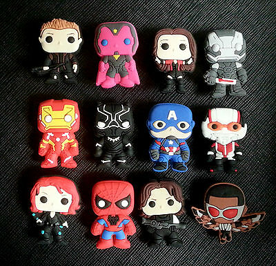 12 x Cute Avengers Movie Shoe Charms Suitable for Crocs Jibbitz Age of Ultron