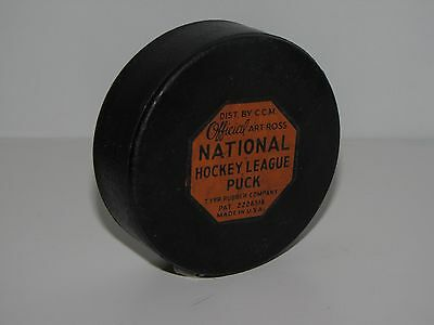 Vintage NHL Hockey Puck 1950's Montreal Canadiens CCM Art Ross Habs Original Six