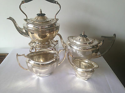 4 Piece Antique Silver Plated  Tea / Coffee Service