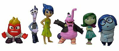Disney Pixar Inside Out Complete 6 Piece Character Figure Set Cute Kids Gift New