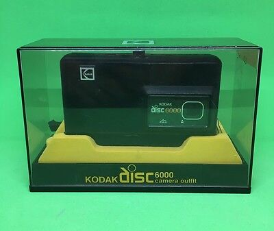 Vintage Kodak Disc 6000 Camera Outfit Display Box Set Strap retro photography
