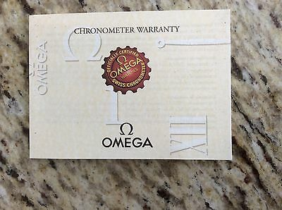 Omega Seamaster Watch Chronometer Warranty Certificate