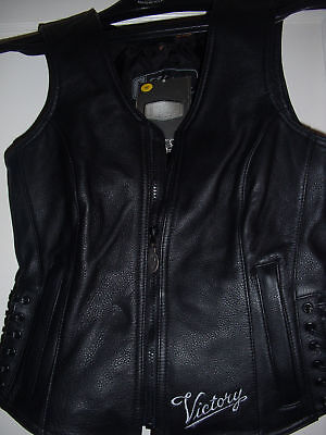 Victory Motorcycle Leather Womens Vest Polaris 1954 Sm