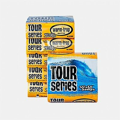 Sticky Bumps Tour series warm/tropical Surfboard Wax 18 Pack 3times stickier