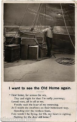 I want to see the Old Home again, Bamforth RP song postcard, posted