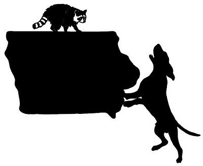 Window Stickers Vinyl Truck Raccoon Graphic Coon Hunting Indiana State Decal
