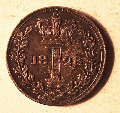 1828 George Iv Silver Maundy Penny (4776)