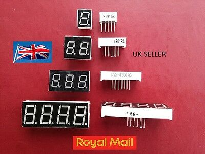 Common Cathode 7 Segment Display Red 1 2 3 4 Digit 10 12 Pin 0.39 0.4 0.56 Uk