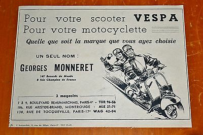 Rare 1952 French Vespa Scooters Dealer Ad