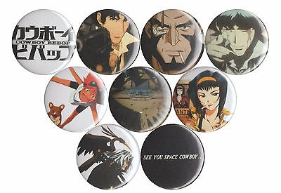 Cowboy Bebop set of 9 buttons badges Spike Faye Ed Jet Space Cowboy anime Ein