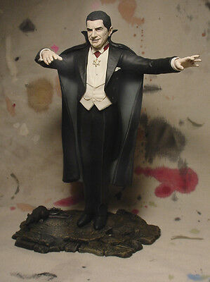 "BELA LUGOSI as COUNT DRACULA 10 1/2"" STATUE w PROFESSIONAL BUILD & PAINT"
