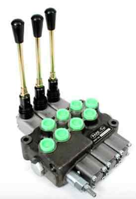 Hydraulic 3 Spool Remote Double Acting Control Valve