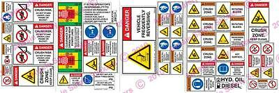 Wheel Loader Risk Assessment Sticker Kit