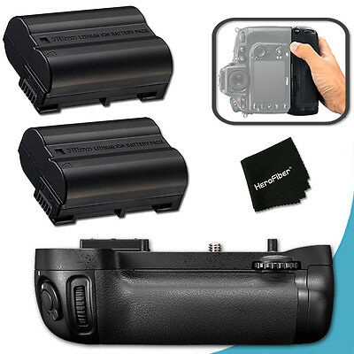 PRO Battery Grip for Nikon D600 DSLR Camera + 2 High Capacity EN-EL15 Batteries