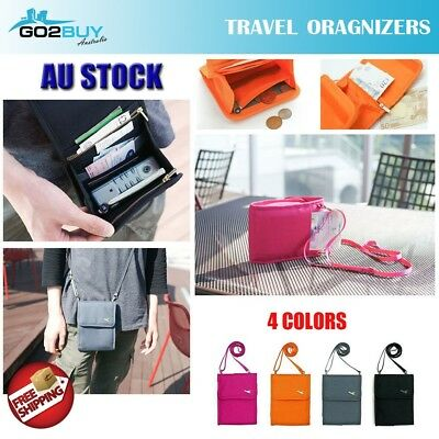Travel Wallet Organizer Passport Credit Card Ticket Holder Cash Purse Case Bag