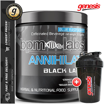 BPM Labs ANNIHILATE BLACK LABEL *50 Serve* Thermo Fat Burner + FREE Shaker!