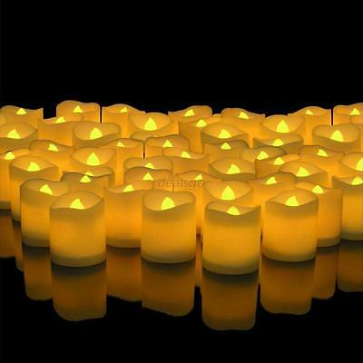 24 48 PCS LED Flameless Tealights Battery Operated Flickering Tea Light Candles