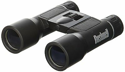 Powerview Binoculars Bushnell 10x25mm Compact Folding Roof Prism Binocular Black